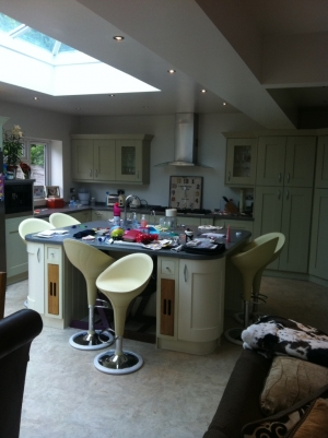 We did a kitchen extension and supplied and fitted the kitchen